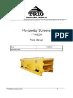 TrioTTH 6203D Horizontal Screen Parts Manual (SN. 226)