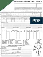 Lembar Catatan Pasien Ambulans