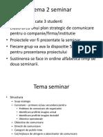 Tema 2 Seminar