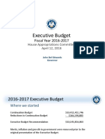 Fiscal year 2016-2017 budget presented to House Appropriations Committee
