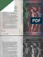 La Cultura Occidental. Jose Luis Romero. Alianza 1994