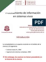 Procesamiento de Información en Sistemas Vivos