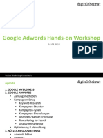 Adwords Hands-On Workshop