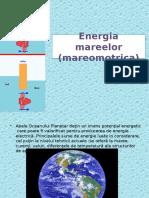 Energia Mareelor (Mareomotrica)