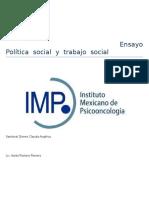 Las Políticas Sociales Emergen Del Estado Capitalista y Constituyen Un Capítulo de La Ciencia Política