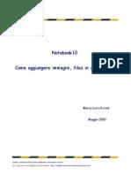 Come Aggiungere Files in Raccolta _Notebook 10