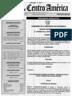 Guatemala Ley de Presupuesto 2016