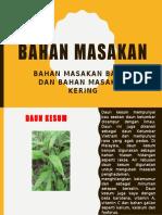 BAHAN MASAKAN