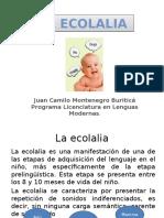 La Ecolalia.