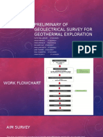 Preliminary of Geolectrical Survey