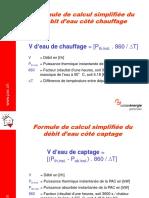 Formules Calcul Simplifiées Divers - Chauffage