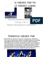 Sistemul Robotic Hal vs Sistemul Robotic Lopes