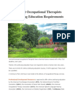 Vermont Occupational Therapists Continuing Education Requirements