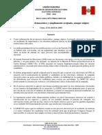 Declaración Preliminar MOE UE Perú 2016