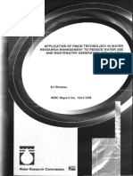 Application of Pinch Technology in Water