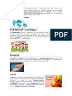 Valores Definicion e Imagen