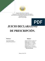 Juicio Declarativo de Prescripción
