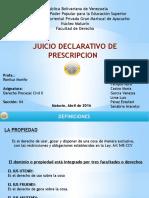 JUICIO DECLARATIO DE PRESCRIPCION