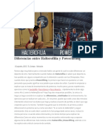Diferencias Entre Halterofilia y Powerlifting