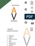 Presentación Gabinete de Prensa. Andrés del Val Comunicación.