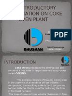 An Introductory Presentation on Coke Oven Plant