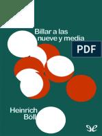Billar a Las Nueve y Media - Heinrich Boll