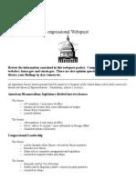 Congressional Webquest