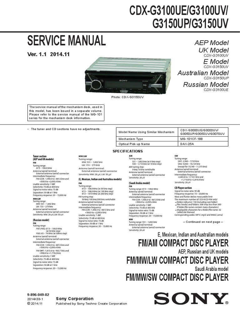 1510955860?v=1 sony cdx g3100ue,g3100uv,g3150up,g3150uv pdf antenna (radio sony cdx g3150up wiring diagram at honlapkeszites.co