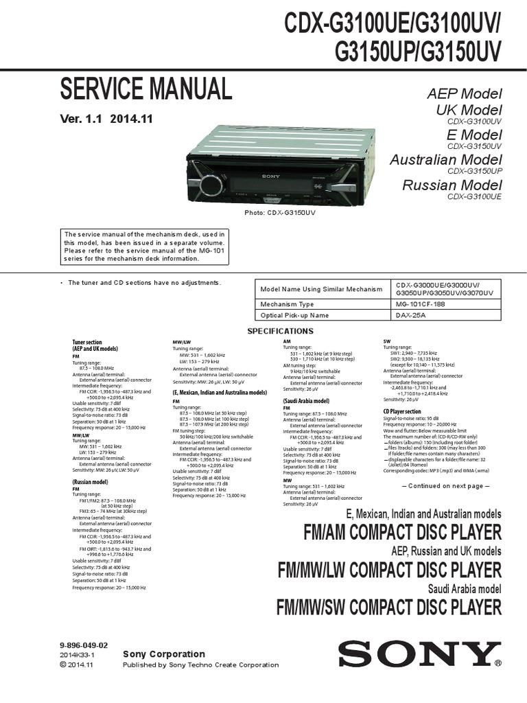 1510955860?v=1 sony cdx g3100ue,g3100uv,g3150up,g3150uv pdf antenna (radio sony cdx-g3150up wiring diagram at honlapkeszites.co