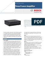 Bosch Plena Amplifier Datasheet