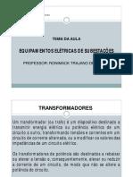 Aula 03 - Equipamentos - Transformadores