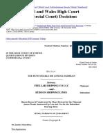 Stellar Shipping Co Llc v Hudson Shipping Lines [2010] EWHC 2985 (Comm) 56-57
