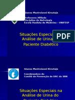 Análise de urina do diabético