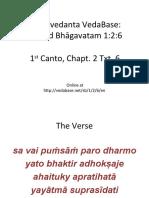 SB 1 2 6 Verse and Purport