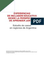 Experiencias de inclusion educativa desde la perspectiva de aprender juntos