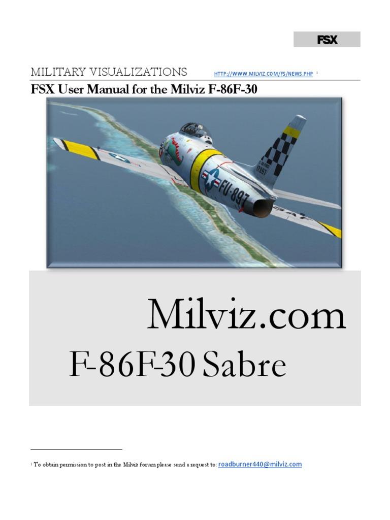 Milviz F86 User Guide | Takeoff | Stall (Fluid Mechanics)