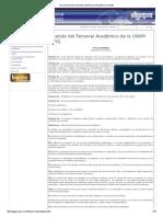 Estatuto Del Personal Académico de La UNAM (EPA)