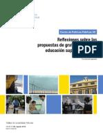 Reflexiones Sobre Las Propuestas de Gratuidad Para La Educacion Superior en Chile