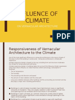 Influence of Climate on Vernacular Architecture