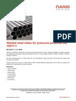 Welded Steel Tubes for Pressure Purposes en 10217 1
