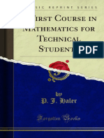 A First Course in Mathematics for Technical Students 1000017015