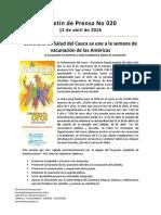 Boletín 020 Secretaría de Salud Del Cauca Se Une a La Semana de Vacunación de Las Américas