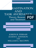 (the Springer Series in Social Clinical Psychology) Joseph R. Ferrari, Judith L. Johnson, William G. McCown (Auth.)-Procrastination and Task Avoidance_ Theory, Research, And Treatment-Springer US (199