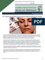 CFF Regulamenta Realização de Procedimentos Estéticos Invasivos Não Cirúrgicos