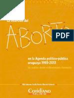 Johnson - Rocha - Schenck (2015) La inserción del aborto en la agenda político-pública uruguaya 1985-2013 Un análisis desde el movimiento feminista