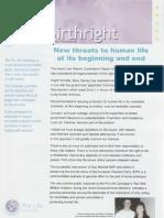 Pro Life Campaign Ireland Birthright Newsletter November 2009