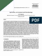 Agricultura, Medio Ambiente y Biotecnología