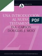 Carson, Donald. Una Introduccion Al NT .