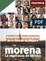 Plataforma de Morena al Constituyente