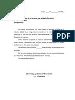 Modelo Carta Renuncia Sin Preaviso Venezuela QuickZone